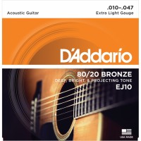 Daddario EJ10 Akustik Gitar Takım Tel Light (ücretsiz kargo)