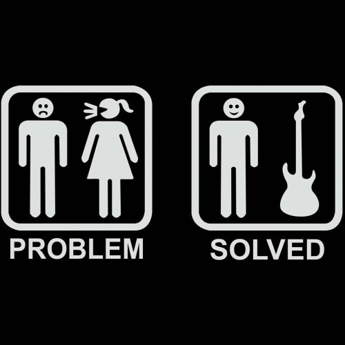 Gitaristin Problemi Tişört