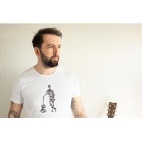 Çizgi Gitarist Tişört