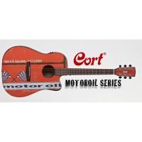Cort Motor Oil 2 BKS Akustik Gitar Kılıf ve Pena Hediyeli