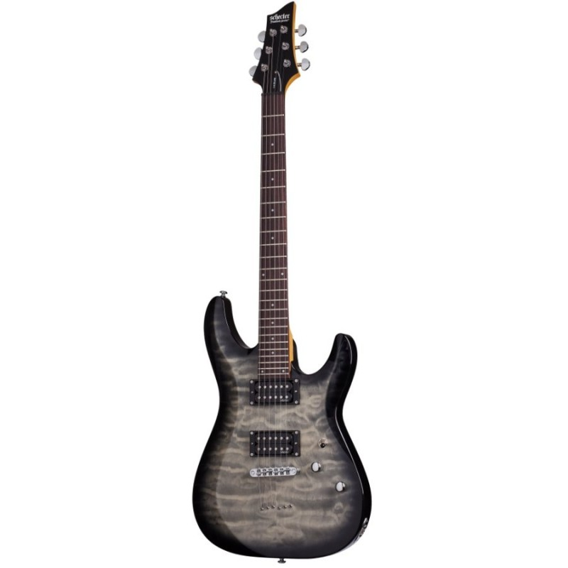 Schecter C-6 Plus Elektro Gitar (Charcoal Burst)