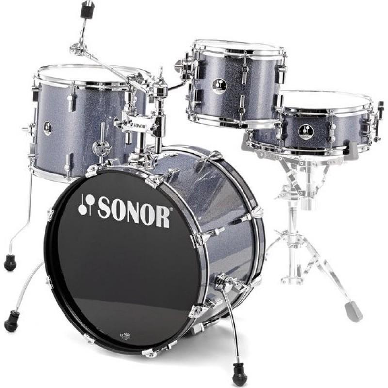 Sonor SSE 13 Players Covered Black Galaxy Sparkle (4 Parça) Akustik Davul Seti
